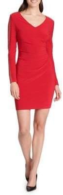 GUESS Sleeve-Embellished Mini Dress