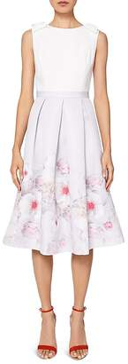 Ted Baker Gilith Chelsea Bow-Shoulder Dress $395 thestylecure.com