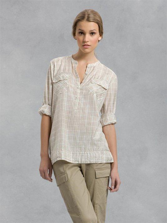 Plaid Silk Tunic