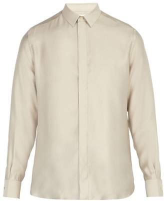 Saint Laurent Point Collar Shirt - Mens - Grey