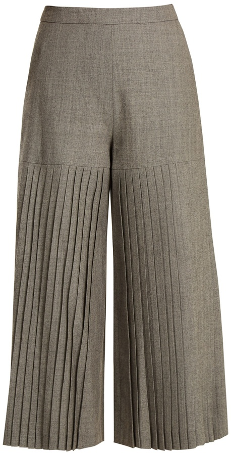 Osman Madie pleated wool culottes