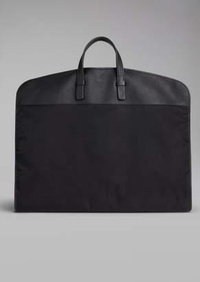 Giorgio Armani Nylon Garment Bag With Leather Details