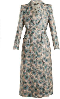 BLAZÉ MILANO Astarte floral-print tie-waist silk-blend coat