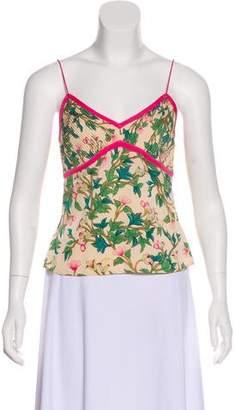 Diane von Furstenberg Floral Print Silk Top