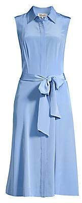 Diane von Furstenberg Women's Demi Silk Midi Shirtdress