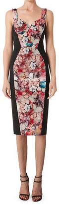 Black Halo Sady Floral Sheath Dress $345 thestylecure.com