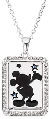Disney Mickey Mouse 'Dream Bigger' Crystal Accent Pendant Necklace