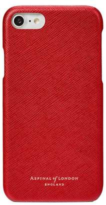 Aspinal of London Iphone 7/8 Leather Cover In Scarlet Saffiano