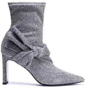 Sigerson Morrison Ruched Velvet Ankle Boots