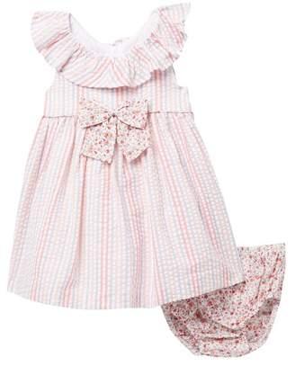 bb07774d4194 Iris   Ivy Striped Seersucker Dress Set (Baby Girls)