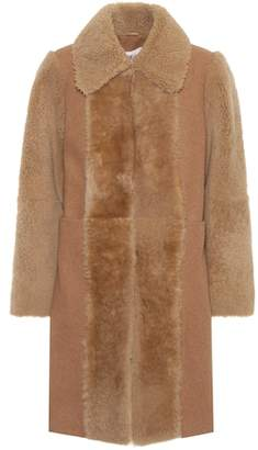See by Chloe Fur-trimmed wool coat