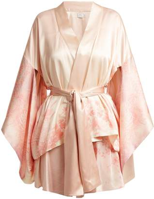 HILLIER BARTLEY Floral-print silk kimono jacket
