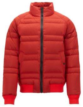 50d7e6f57367 BOSS Hugo Down jacket in water-repellent ripstop fabric 40R Open Red