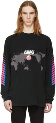 Alexander Wang Black Long Sleeve AWG Corporate T-Shirt