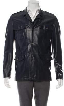 Salvatore Ferragamo Leather Field Jacket Leather Field Jacket