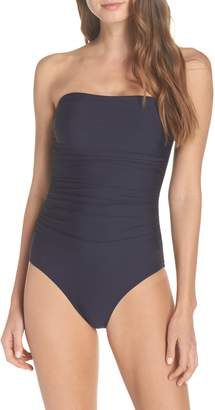 J.Crew Ruched One-Piece Bandeau Swimsuit