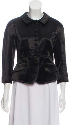 Derek Lam Long Sleeve Satin Blazer