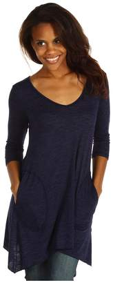 Allen Allen Slub Angled 3/4 Tunic Women's T Shirt