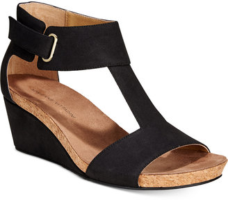 Adrienne Vittadini Trellis Ankle-Strap Wedge Sandals $89 thestylecure.com