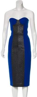 Michael Kors Wool Strapless Dress