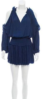 Ulla Johnson Ruffle-Trimmed Cold-Shoulder Dress w/ Tags