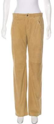 Ralph Lauren Suede Wide-Leg Pants
