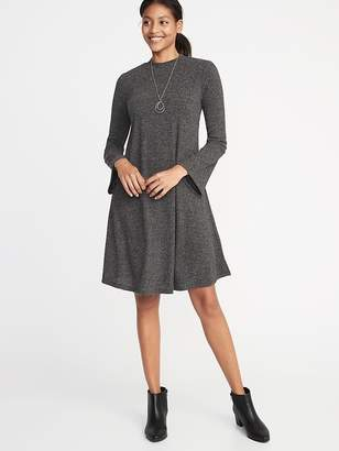 Old Navy Mock-Neck Rib-Knit Swing Dress for Women
