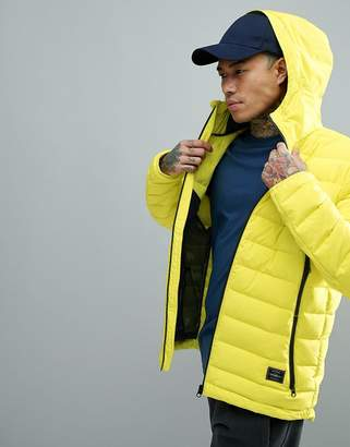 O'Neill Activewear Tube Weave Puffer Jacket in Neon Yellow