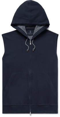 Brunello Cucinelli Cotton-Blend Jersey Zip-Up Hoodie