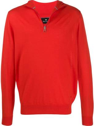 Paul Smith zip-up funnel-neck pullover