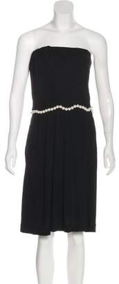 Chanel Embellished Strapless Dress