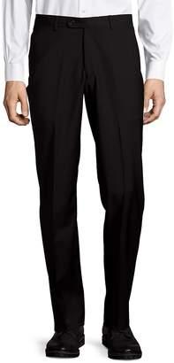 John Varvatos Men's Astor Luxe Wool Straight-Leg Dress Pants