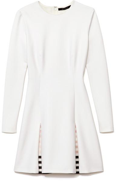 Wes Gordon Preorder Stretch Cotton Silk Long Sleeve Box Pleat Mini