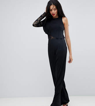 Missguided Tall One Sleeve Wide Leg Jumpsuit