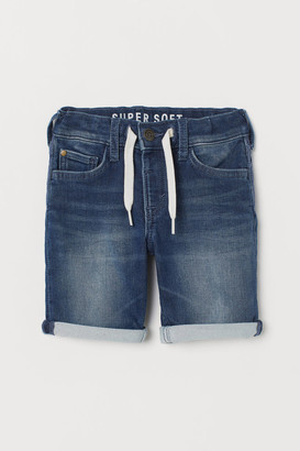H&M Super Soft Denim Shorts - Blue
