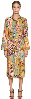 Etro Printed Cotton Poplin Shirt Dress
