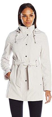 Nautica Women's Belted Raincoat $150 thestylecure.com