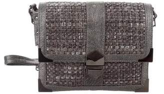 Rebecca Minkoff Metallic Leather Trim Tweed Crossbody Bag