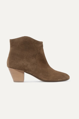 Isabel Marant Dicker Suede Ankle Boots - Taupe