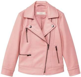 MANGO Girls Zipped Biker Jacket
