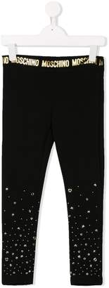 Moschino Kids embellished leggings
