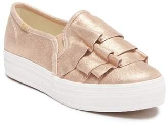Keds Triple Kick Ruffle Slip-On Platform Sneaker