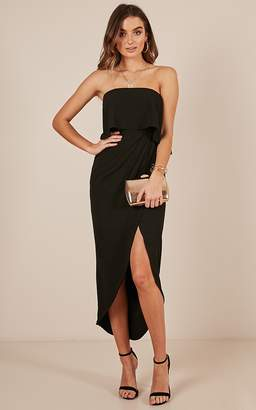 Showpo With Flying Colours dress in black