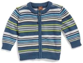 Tea Collection Gavin Stripe Zip Cardigan (Baby Boys)