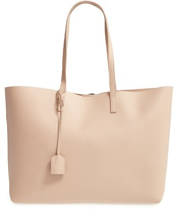 Saint Laurent 'Shopping' Leather Tote - Beige