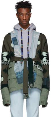 Greg Lauren Alanui Green Edition Field Jacket