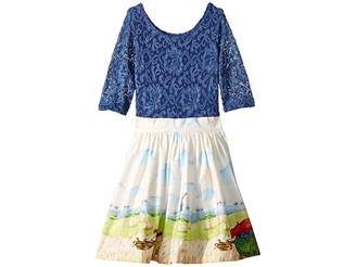 Wanderlust fiveloaves twofish Horse Rider Dress (Toddler/Little Kids)