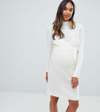 Mama Licious Mama.licious Mamalicious roll neck sweater dress