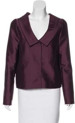 Oscar de la Renta Silk & Wool-Blend Formal Jacket