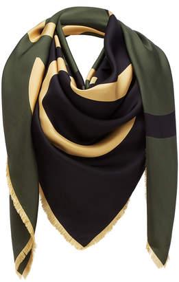 Loewe Colorblock Giant Anagram Silk Scarf